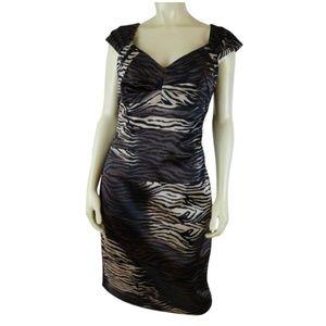 Sangria Dress 10 Poly Spandex Stretch Bodycon